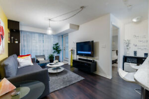 Cozy furnished condo at Bathurst & Lakeshore with parking