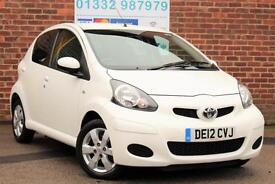 Toyota AYGO 1.0 VVT-i A/C GO! Petrol Manual 5 Door Hatchback in White