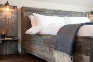 Custom Hand Crafted King Size Barn Wood Headboard & Bed Frame!
