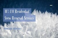 SAVE 10% OFF SNOW REMOVAL
