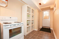 1 Bed room basement apt with separate entrance available Immdly