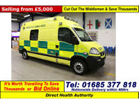 2009 - 59 - VAUXHALL MOVANO 3500 2.5CDTI GIFA COLLET BODY AMBULANCE GUIDE PRICE