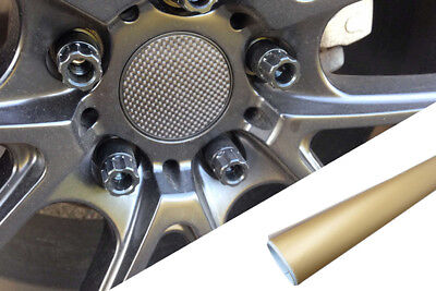 4x Alufelgen Felgen Naben Deckel Design Folie Gold Matt für viele Fahrzeuge