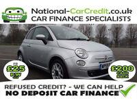 Fiat 500 1.3-16V MULTIJET SPORT Good / Bad Credit Car Finance (silver) 2009
