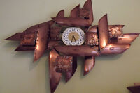80's Metal designer clock