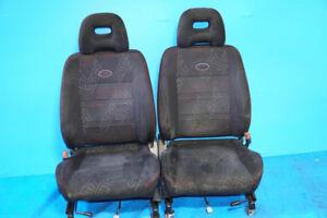 JDM Subaru Forester STi SF5 OEM Black Front Seats Rail 1998-2002