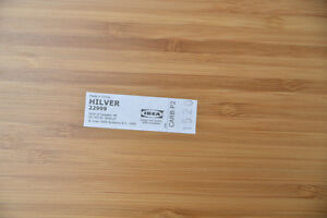 Ikea HILVER Bamboo Table Top