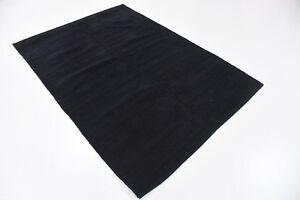 """Black flatweave rug tapis noir 4x5'7"""""""