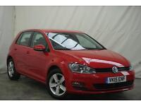 2015 Volkswagen Golf MATCH TDI BLUEMOTION TECHNOLOGY Diesel red Manual