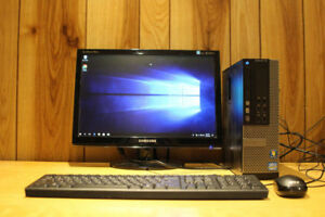 FAST Dell 790 i5 8GB 500GB Windows 10 desktop + Samsung monitor
