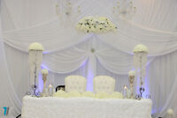 Banquet halls decor,by Olivia ,Chair covers$ 1