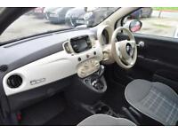 2016 Fiat 500 1.2 Lounge Dualogic (s/s) 3dr Petrol white Semi Auto