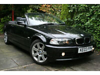 BMW **3 SERIES CONVERTIBLE** 318Ci (2.0) Auto **Only 68k miles** Black Automatic