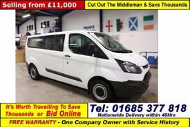 2014 - 64 - FORD TRANSIT CUSTOM 310 ECO TECH 2.2 LWB 9 SEAT MINIBUS GUIDE PRICE