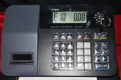 Casio Pcr-t273 Electronic Electric Cash Register With Manual Keys Works Good
