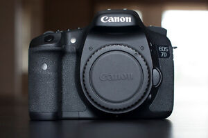 lightly used Canon 7D with battery grip