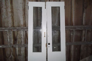 French Doors solid wood and glass