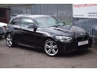 2013 BMW 1 Series 120 Hatch 3Dr 2.0d 184 SS M Sport A8 Diesel black Automatic