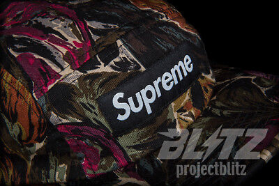 49f04b74ce5 SUPREME PAINTED FLORAL CAMP CAP OLIVE FW17 2017 HAT GREEN MULTI