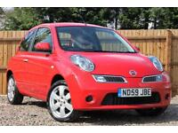 Nissan Micra 1.2 16v 79bhp Acenta Automatic Petrol 3 Door Hatchback in Red