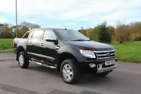 Ford Ranger 2.2TDCi ( 150PS 4x4 Double Cab LTD BLACK DIESEL TRUCK LOW MILEAGE