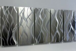 silver metal wall art sculpture original home decor by jon allen