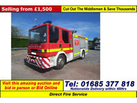 1995 - N - DENNIS SABRE 4X2 13TON 6 SEAT CREW CAB FIRE TENDER (GUIDE PRICE)