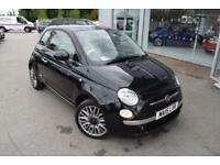 2015 Fiat 500 1.2 Lounge (s/s) 3dr Petrol black Manual