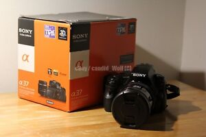 Sony Alpha SLT-A37 with 28-85mm F/3.5-4.5 and accessories