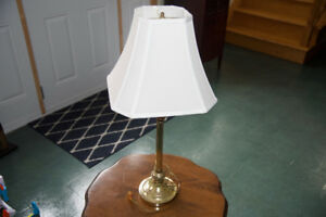 LAMP, BRASS PLATED