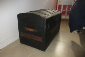 Wooden Steamer Trunk - Vintage