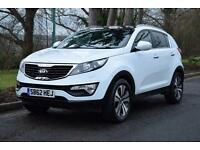 KIA SPORTAGE 3 1.7CRDi , GLASS PANO ROOF, FULL BLACK LEATHER, 49,000 MILES ONLY