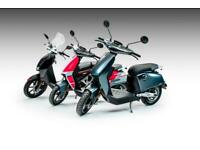 Super Soco CUX Bosch1300w 28mph Electric Moped, 40 miles distance, ride with CBT
