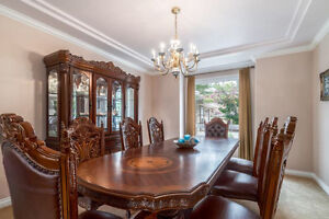 dining table and wine cabinet