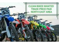 HONDA CRF 450 250 FC SXF YZF MOTOCROSS BIKES WANTED - QUICK PAYMENTS