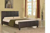 Faux Leather And Upholstered Bed Starting From $149.00