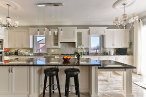 Granite and Quartz kitchen countertop