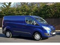 FORD TRANSIT CUSTOM 290 TREND LR P-V 125ps, Blue, Manual, Diesel, 2015
