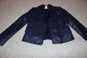 """New girls size 14 """"leather look"""" jacket"""