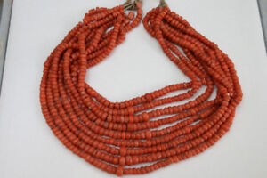 Antique coral beads necklace 140 gr!
