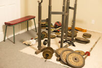 Squat Bench Dip Pull Down Rack 400lbs Weights