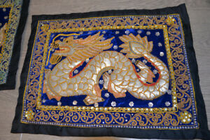 Hand Beaded Tapestry Wall Hangings