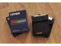 "FOR SALE: 2x Tiffen Black Diffusion FX filters (1/4 & 1/2) 4x5.65"""