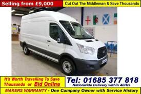 2015 - 15 - FORD TRANSIT T350 L3H3 2.2TDCI 125PS RWD LWB HI TOP VAN GUIDE PRICE