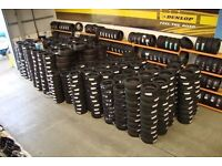 PART WORN TYRES FROM £15 SUPPLIED AND FITTED