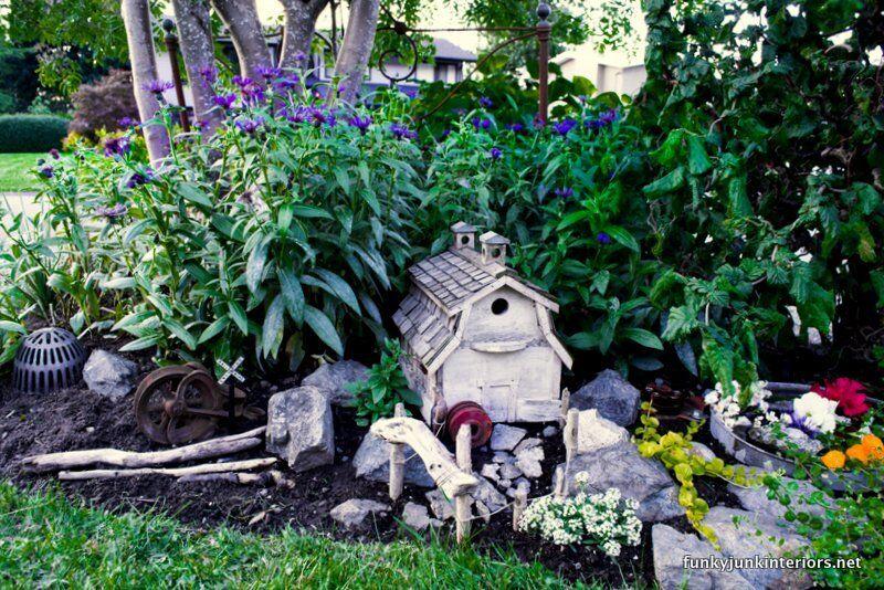Make a fairy garden with a birdhouse eBay