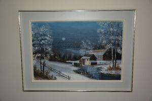 Le moulin à aube en hiver de Robert Drouin