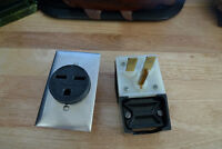HUBBELL HBL9330 RECEPTACLE, 30 AMP & Hubbell Plug 231A 30A-250V
