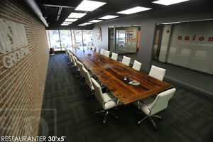 Boardroom Tables from 100% Reclaimed Wood