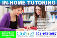 In-Home, 1-on-1 Tutoring - Math, Science, English, French